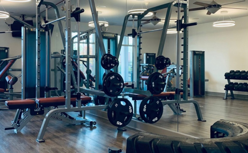 well lit spacious weight room